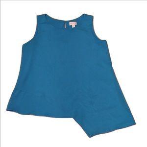 Blue Bisou Bisou A Symmetric Blouse Size Small